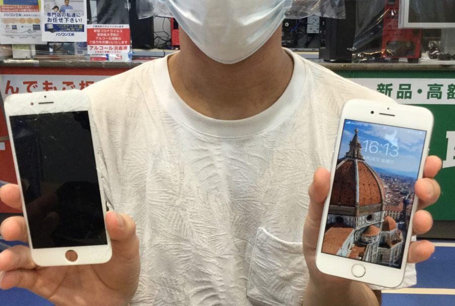 秋葉原店【T.M 様】江戸川区 からご来店 iPhone 7 フロントパネル交換 iPhone7修理お客様
