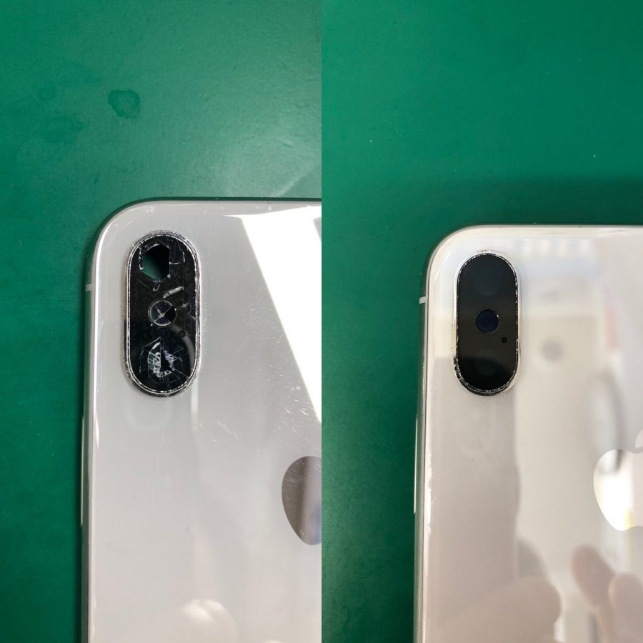 iPhone X リアカメラレンズカバー交換