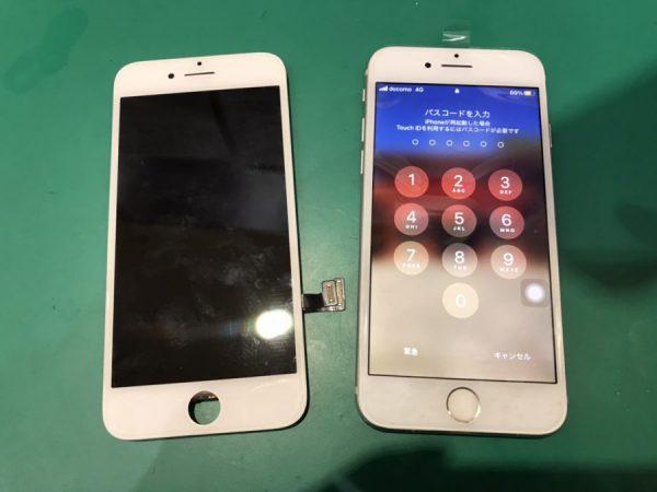 iPhone7 液晶表示不良 画面修理